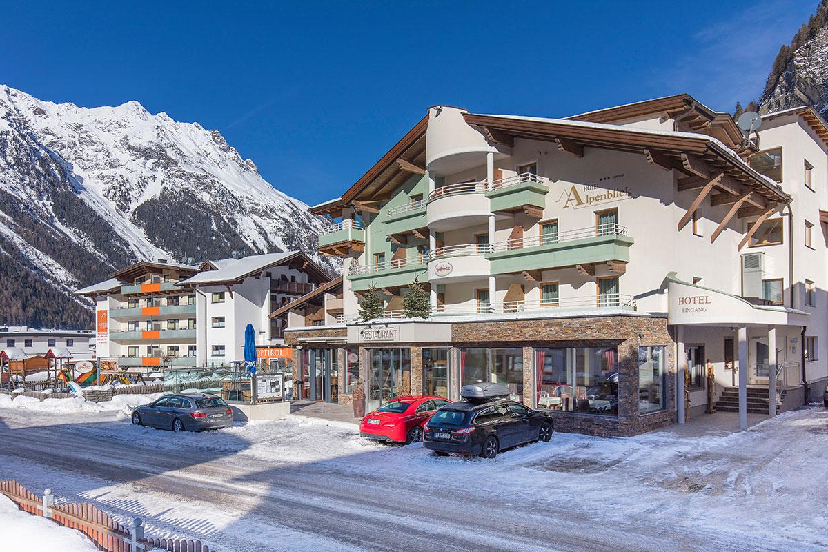 Hotel Alpenblick Außen Winter